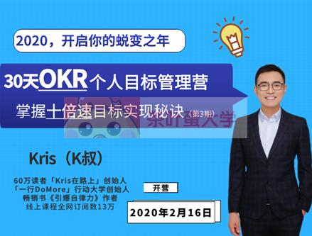 30天OKR个人目标管理训练营·Kris - 百度网盘 - 下载 大师课 第1张