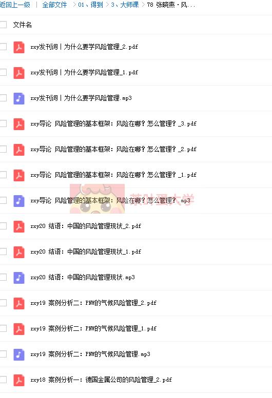 张晓燕·风险管理课 - 得到 - 百度网盘 - 下载 得到大学 第2张