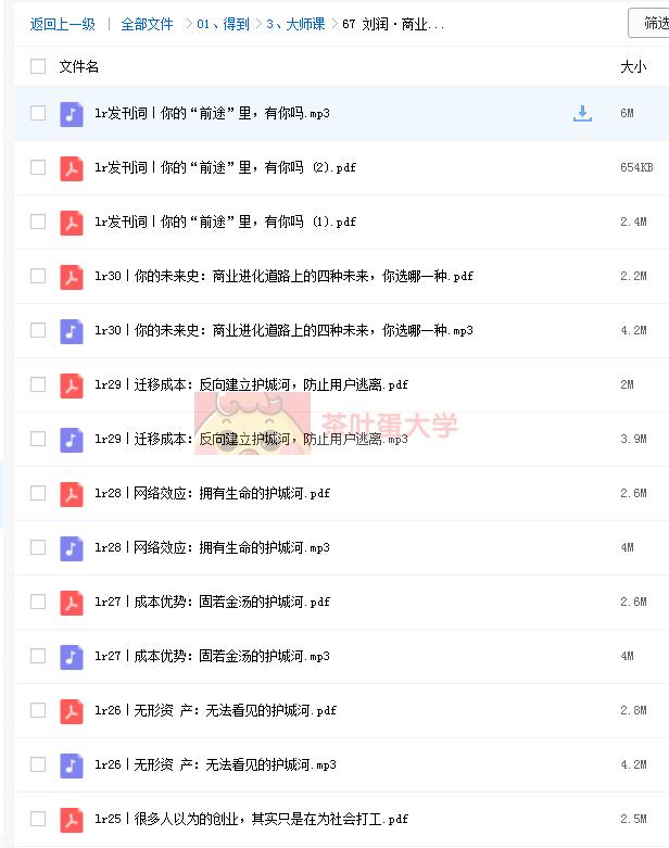 刘润·商业通识30讲 - 得到 - 百度网盘 - 下载 得到大学 第2张