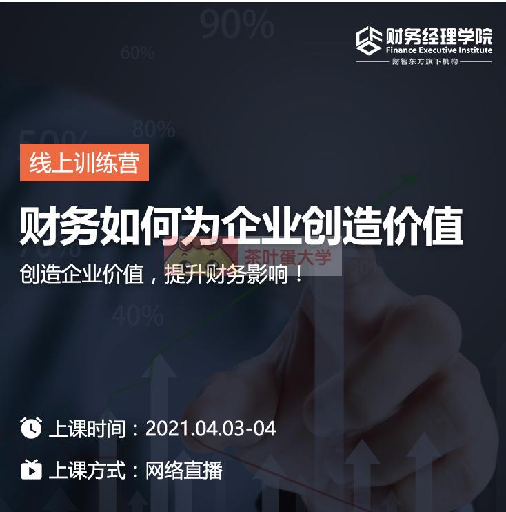财智东方·财务如何为企业创造价值 - 百度网盘 - 下载 职场提升 第1张