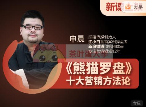 申晨《熊猫罗盘》十大营销方法论 - 百度网盘 - 下载 大师课 第1张