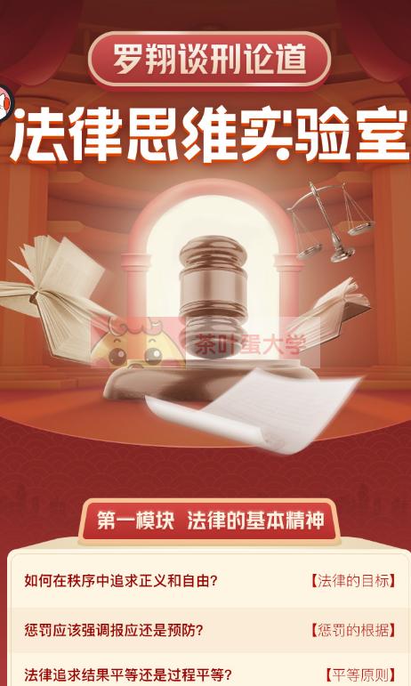 谈刑论道:罗翔的法律思维100讲-网盘下载 喜马拉雅 第2张